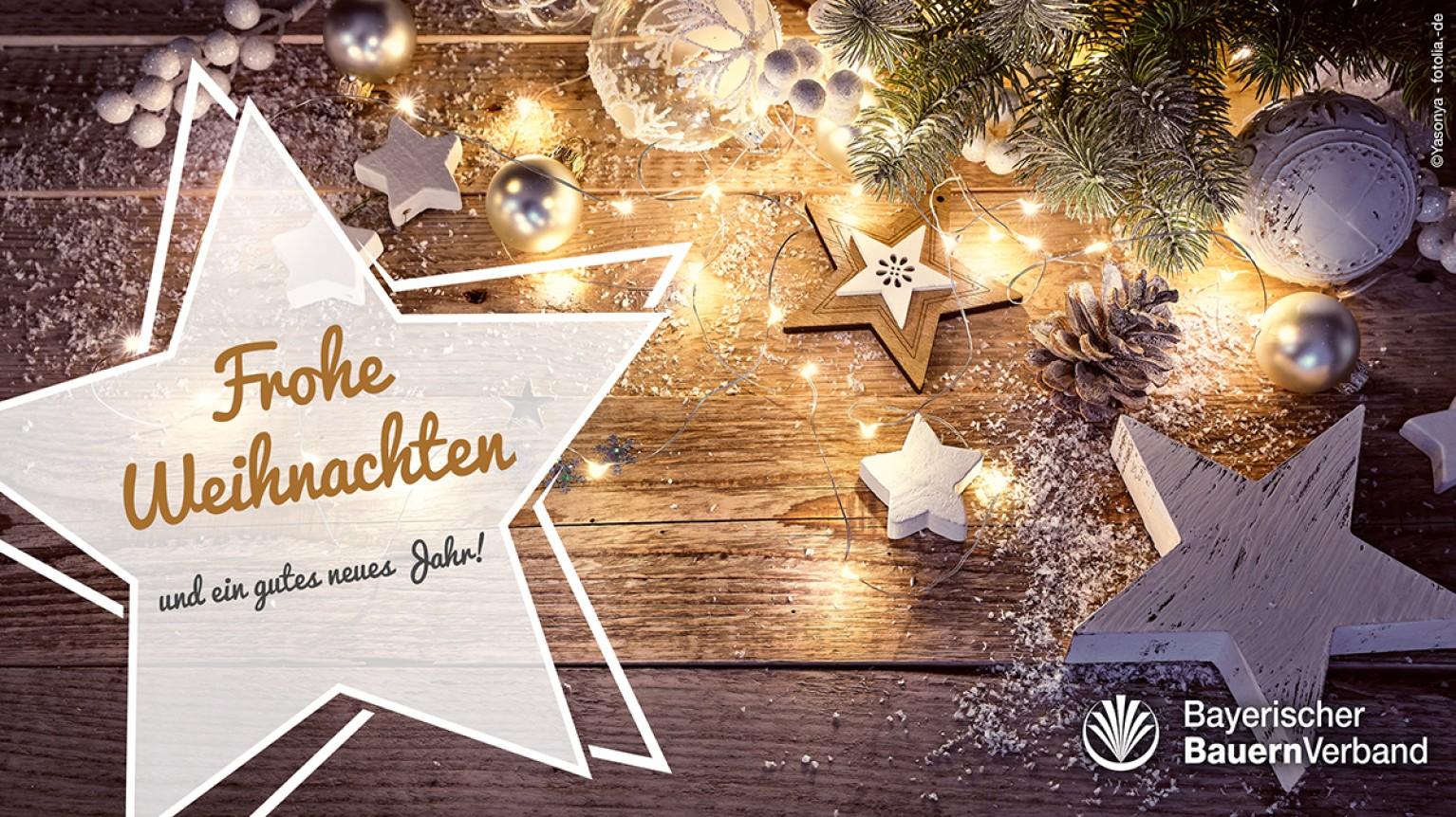 Frohe Weihnachtsgrüße.Frohe Weihnachten Bayerischer Bauernverband